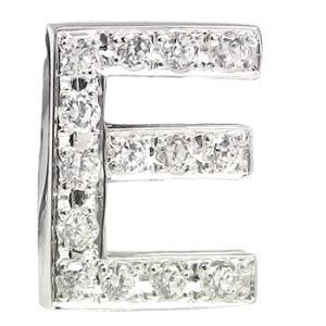 メンズ ピンブローチ ラペルピン ダイヤモンド イニシャル E ホワイトゴールドK18 タイタック タイピン タックピン ダイヤ 18金 送料無料|atrus