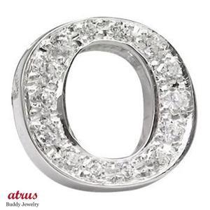 ダイヤモンド ピンブローチ ラペルピン イニシャルブローチ O ダイヤ 0.20ct ホワイトゴールドK18 人気ブローチ 18金 タックピン 送料無料|atrus