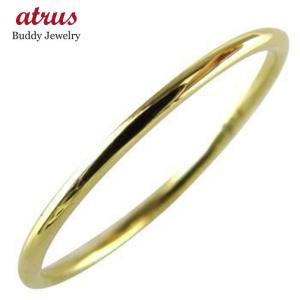 18金 リング メンズ イエローゴールドk18 ゴールド 金 シンプル 指輪 ピンキーリング ストレート 18k YG 男性用 人気 送料無料|atrus