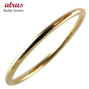 ピンキーリング メンズ 18金 18k シンプル リング 人気 ピンクゴールドk18 指輪 ストレート 男性 プレゼント 送料無料 atrus