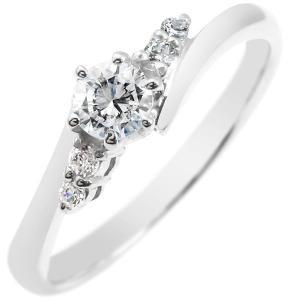 婚約指輪 エンゲージリング プラチナ ダイヤモンド リング 一粒 大粒 ダイヤ ストレート あすつく 送料無料|atrus