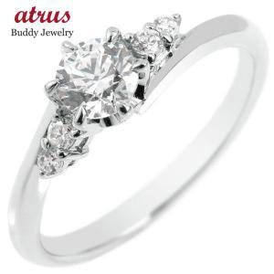 婚約指輪 プラチナ 安い 指輪 ダイヤモンド 一粒 大粒 0.37ct レディース pt900 エン...