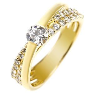 鑑定書付き 婚約指輪  エンゲージリング ダイヤモンド リング 一粒 大粒 イエローゴールドk18 ダイヤ 18金 ストレート|atrus