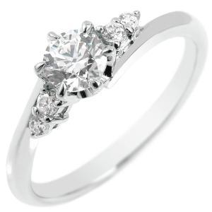 エンゲージリング プラチナ ダイヤモンド 鑑定書付き 婚約指輪 一粒 大粒 VVS1クラス ダイヤ リング リング ストレート|atrus