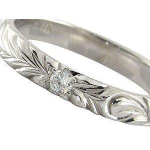 ハワイアンペアリング ホワイトゴールドk18 結婚指輪 ダイヤモンド 一粒 ダイヤ ハワイアンジュエリー2本セット ダイヤ シンプル 人気|atrus|02