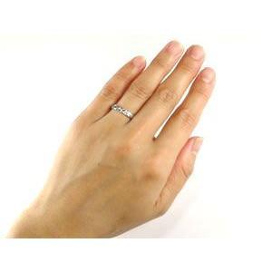 ハワイアンペアリング ホワイトゴールドk18 結婚指輪 ダイヤモンド 一粒 ダイヤ ハワイアンジュエリー2本セット ダイヤ シンプル 人気|atrus|03