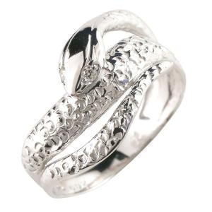 メンズ スネークリング 蛇 指輪 ピンキーリング ダイヤモンド ダイヤ 選べる天然石 シルバー925 男性用 宝石 送料無料|atrus