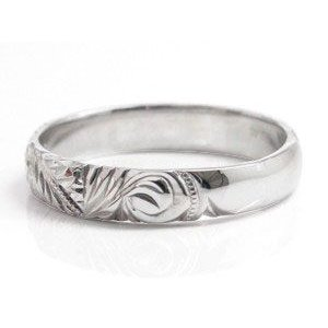 ハワイアンジュエリー ペアリング プラチナ 結婚指輪 マリッジリング 地金リング プラチナリング pt900 ストレート カップル シンプル 人気|atrus|02