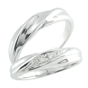 結婚指輪 マリッジリング ペアリング シルバー キュービックジルコニア ストレート カップル|atrus