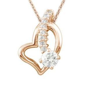 ダイヤモンド オープンハート 誕生石 ネックレス ネックレス 一粒 ペンダント ピンクゴールドk18 チェーン 人気 18金 ダイヤ レディース atrus