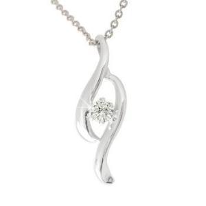 ダイヤモンド ネックレス一粒 ペンダント ネックレス ダイヤ 0.10ct プラチナ チェーン 人気 レディース atrus