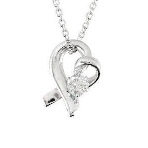 ダイヤモンド オープンハート ダイヤモンドネックレス ネックレス 一粒ダイヤ ダイヤ 0.10ct プラチナ チェーン 人気|atrus