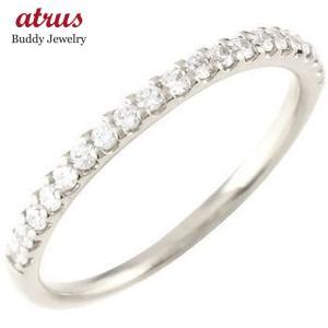 エンゲージリング プラチナ ダイヤモンド エタニティ 婚約指輪 ハーフエタニティ リング ダイヤ ストレート|atrus