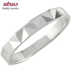 プラチナ 指輪 普段使い シンプル レディース リング カットリング ダイヤモンドカット ピンキーリング ダイヤカット ストレート 送料無料|atrus