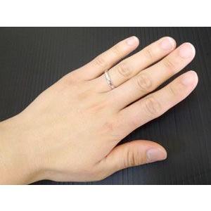 結婚指輪 プラチナ ペアリング 人気 マリッジリング カットリング ダイヤモンドカット ダイヤ ストレート カップル|atrus|03