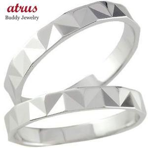 結婚指輪 プラチナ ペアリング 人気 マリッジリング カットリング ダイヤモンドカット ダイヤ ストレート カップル|atrus
