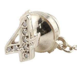 ピンブローチ ラペルピン ダイヤモンド 数字 ナンバー 4 ホワイトゴールドk18 レディース タックピン ダイヤ 18金 送料無料|atrus
