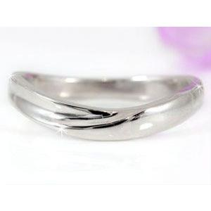 V字 ペアリング 結婚指輪 ダイヤモンド ルビー プラチナ マリッジリング 結婚式 ウェーブリング ダイヤ カップル|atrus|03