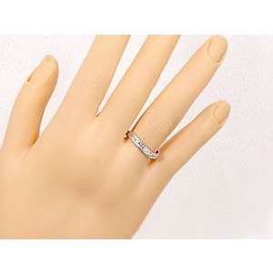 V字 ペアリング 結婚指輪 ダイヤモンド ルビー プラチナ マリッジリング 結婚式 ウェーブリング ダイヤ カップル|atrus|04