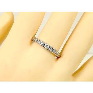 ペアリング プラチナ ダイヤモンド 鑑定書付き 結婚指輪 結婚式 ダイヤ ストレート カップル|atrus|03