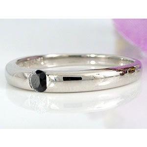 ペアリング 結婚指輪 ダイヤモンド ブラックダイヤモンド ホワイトゴールドk18 一粒 結婚式 18金 ダイヤ ストレート カップル|atrus|04