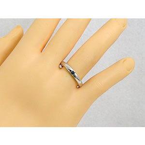 ペアリング 結婚指輪 ダイヤモンド ブラックダイヤモンド ホワイトゴールドk18 一粒 結婚式 18金 ダイヤ ストレート カップル|atrus|05