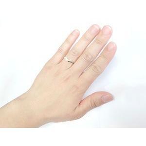 エンゲージリング プラチナ ダイヤモンド V字 婚約指輪 結婚 リング ウェーブリング ダイヤ atrus 03