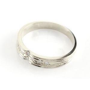 エンゲージリング プラチナ ダイヤモンド 婚約指輪 クロス リング ミル打ち リング ダイヤ ストレート|atrus|02