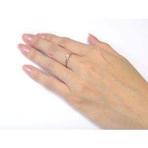 ハワイアンジュエリー 婚約指輪 エンゲージリング 一粒 ピンクゴールドk18 ハワイアンジュエリー 18金 k18pg ストレート|atrus|04