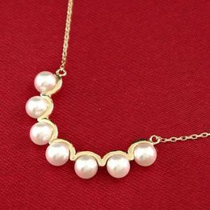 パールネックレス 真珠 フォーマル  ネックレス ペンダント イエローゴールドk10 10金 あすつく 送料無料|atrus