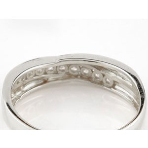 ペアリング 結婚指輪 マリッジリング ダイヤモンド ホワイトゴールドk18 結婚式 18金 ダイヤ ストレート カップル|atrus|03