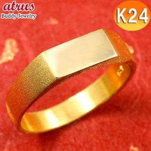 24金 指輪 メンズ 純金 リング 印台 幅広 k24 24k 金 ゴールド ピンキーリング シンプル 人気 男性用 送料無料|atrus