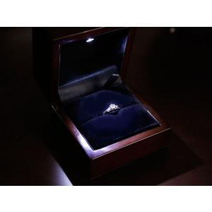 リング用ジュエリーケース リングケース 指輪ケース 収納 LEDライト付き 贈り物に プレゼントに ジュエリーボックス 送料無料|atrus
