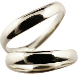 V字 プラチナ ペアリング 人気 結婚指輪 マリッジリング プラチナリング 地金リング ブイ字 結婚式 シンプル 宝石なし ウェーブリング カップル|atrus