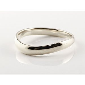 V字 プラチナ ペアリング 人気 結婚指輪 マリッジリング プラチナリング 地金リング ブイ字 結婚式 シンプル 宝石なし ウェーブリング カップル|atrus|02