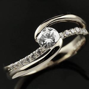 エンゲージリング プラチナ ダイヤモンド 鑑定書付き 婚約指輪 リング 指輪 大粒 一粒 VSクラス レディース ストレート|atrus