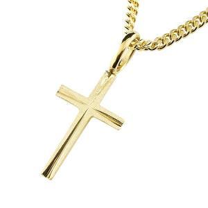 18金 クロス ネックレス 喜平 トップ メンズ 金 ゴールド 18k 十字架 キヘイ ペンダント イエローゴールドk18 地金 シンプル つや消し 男性 あすつく 送料無料|atrus