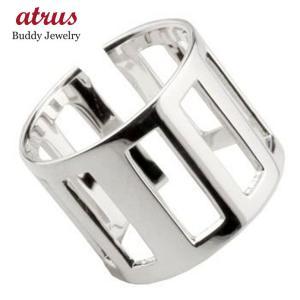 メンズリング ファランジリング プラチナリング ミディリング 関節リング 指輪 地金リング ピンキーリング フリーサイズ ストレート 男性用 送料無料|atrus