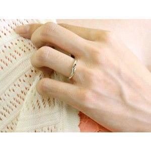 ペアリング ダイヤモンド 結婚指輪 マリッジリング ホワイトゴールドk18 シンプル つや消し 18金 ダイヤ ストレート スイートペアリィー|atrus|03