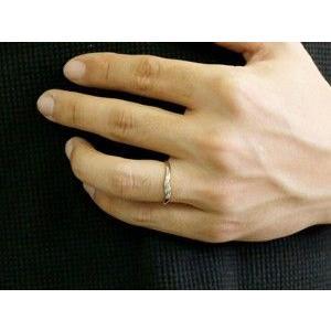 ペアリング ダイヤモンド 結婚指輪 マリッジリング ホワイトゴールドk18 シンプル つや消し 18金 ダイヤ ストレート スイートペアリィー|atrus|05
