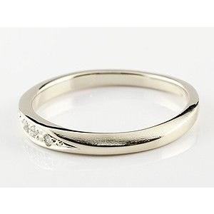 ペアリング プラチナ ダイヤモンド 結婚指輪 マリッジリング シンプル つや消し pt900 ダイヤ ストレート スイートペアリィー カップル|atrus|02
