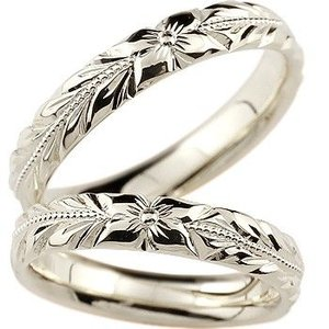 ハワイアンジュエリー ペアリング 結婚指輪 マリッジリング 地金リング リーガルタイプ シルバー925 幅広 ミル打ち sv925 ストレート カップル|atrus