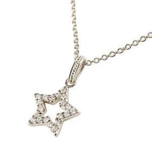 スター ネックレス ダイヤモンド パヴェ プラチナ ペンダント 星 ダイヤ pt900 レディース チェーン 人気 送料無料|atrus