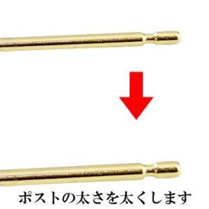 ピアス プラチナ 片耳用 半ペア ピアスポストを太くする 0.9×10ミリ プラチナ ホワイトゴールドk18 ピンクゴールドk18 イエローゴールドk18 18金 レディース|atrus
