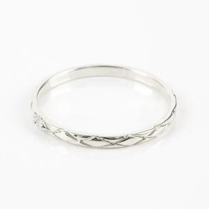 ペアリング プラチナ ダイヤモンド 結婚指輪 マリッジリング リング 一粒 pt900 華奢 アンティーク ストレート スイートペアリィー カップル  最短納期 夏|atrus|02