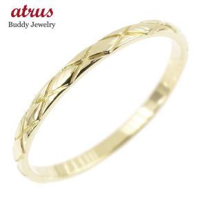 ピンキーリング イエローゴールドk10 極細 10金 華奢 アンティーク ストレート 指輪|atrus