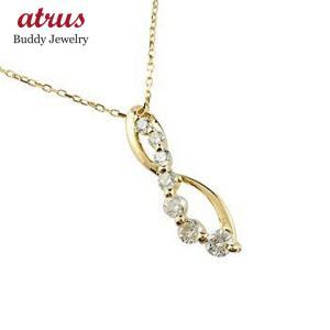 ダイヤモンド ネックレス ペンダント ダイヤ 0.20ct イエローゴールドk18 18金 チェーン 人気 atrus