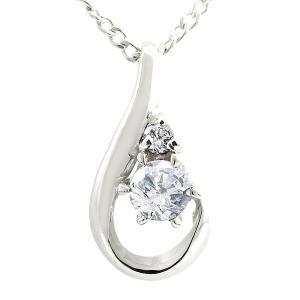 ダイヤモンド ネックレス ダイヤモンド ホワイトゴールド ペンダント ティアドロップ チェーン 人気 4月誕生石 k10 レディース atrus
