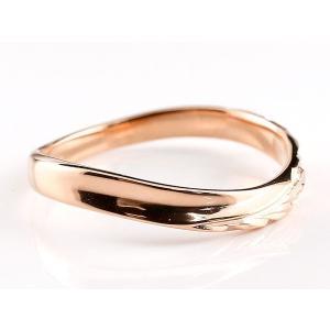 ペアリング 結婚指輪 ハワイアンジュエリー マリッジリング プラチナ ピンクゴールドk18 ハワイアンリング V字 地金 pt900 カップル|atrus|02