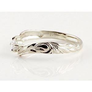 ピンキーリング ハワイアンジュエリー ダイヤモンド プラチナリング 指輪 一粒ダイヤモンド ダイヤ ハワイアンリング V字 pt900 レディース|atrus|02